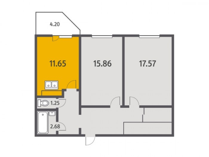 """Кухни в квартирах от """"Ленстройтреста"""": на любой вкус - Фото 4"""