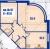 """Планировка двухкомнатной квартиры площадью 87.1 кв. м в новостройке ЖК """"Династия"""""""