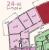 """Планировка трехкомнатной квартиры площадью 75.69 кв. м в новостройке ЖК """"Лахта Парк"""""""
