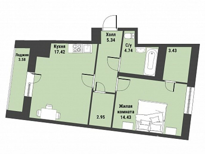 """ЖК """"Живи! В Рыбацком!"""" - недорогие квартиры с отделкой и удобной рассрочкой. - Фото 37"""