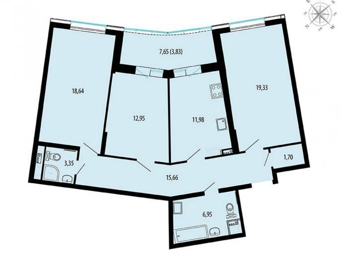 Пять Звезд – стильный жилой комплекс в 500 метрах от Невы - Фото 50