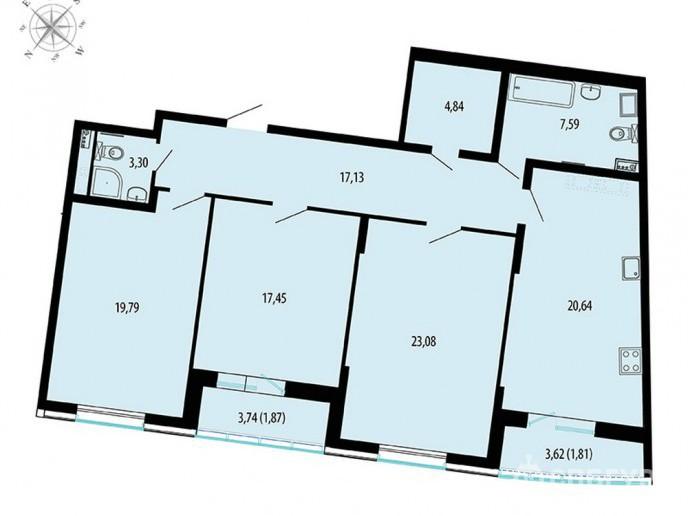 Пять Звезд – стильный жилой комплекс в 500 метрах от Невы - Фото 49