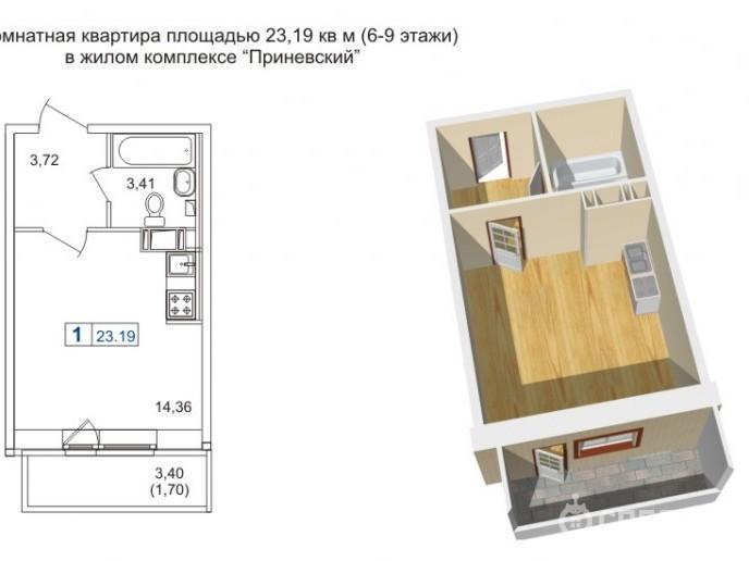 """ЖК """"Приневский"""" -  бюджетное жилье в пределах КАД - Фото 30"""