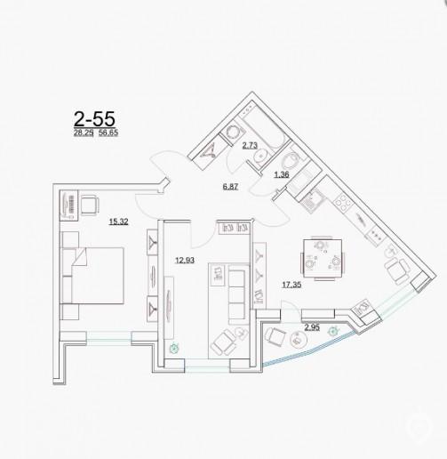 """ЖК """"Старая крепость"""": огромный дом у парка в Мурино - Фото 45"""