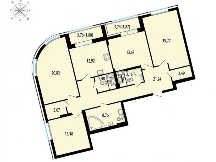 Пять Звезд – стильный жилой комплекс в 500 метрах от Невы - Фото 46