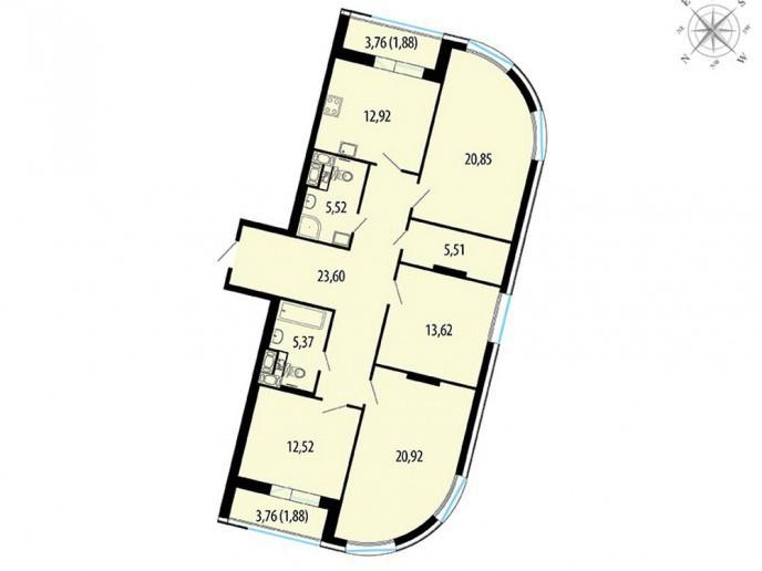 Пять Звезд – стильный жилой комплекс в 500 метрах от Невы - Фото 48
