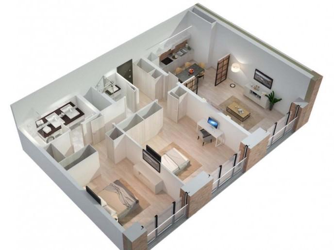 Docklands: стильные апартаменты с видом на Малую Неву - Фото 23