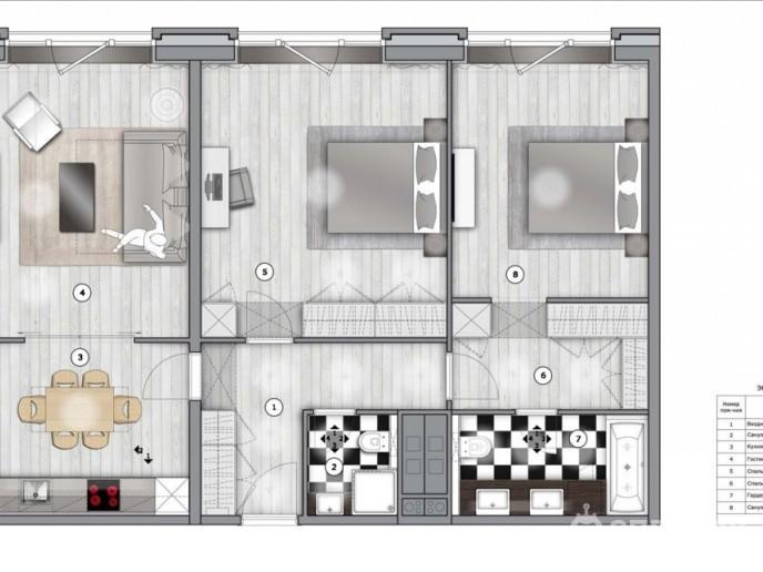Docklands: стильные апартаменты с видом на Малую Неву - Фото 22