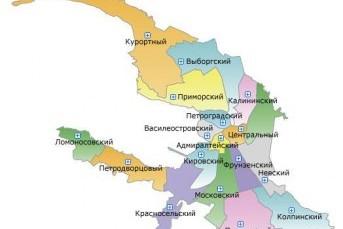 Наиболее перспективные районы Санкт-Петербурга