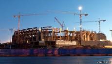 """После 6 лет строительства стадион """"Зенит"""" оказался завершен на 35%"""