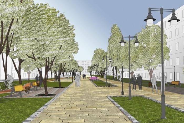В Мурино создадут пешеходный бульвар