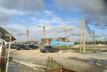 ЖК «Невские Паруса» -  стройка с видом на Неву от Setl City.