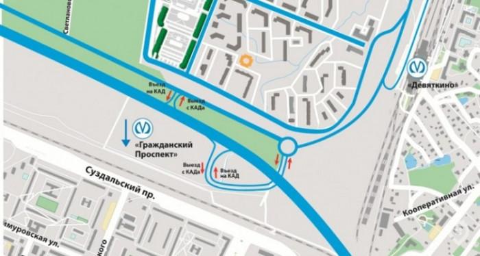 1 октября открывается движение по новому съезду с КАД в Мурино - Фото 1
