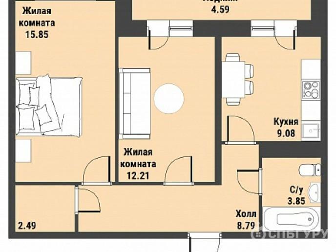 """ЖК """"Живи! В Рыбацком!"""" - недорогие квартиры с отделкой и удобной рассрочкой. - Фото 34"""