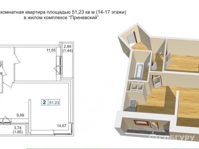 """ЖК """"Приневский"""" -  бюджетное жилье в пределах КАД - Фото 29"""