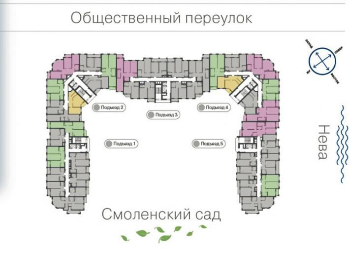 """ЖК """"Дом на набережной"""": проект, потеснивший новый мост через Неву - Фото 50"""