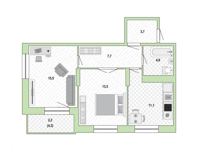 """ЖК """"Жемчужный каскад"""": дома с променадом и видом на залив - Фото 32"""