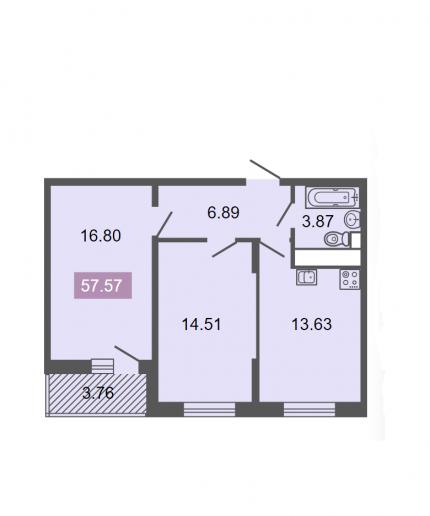 """ЖК """"Питер"""": квартиры бизнес-класса с видом на ЛЭП - Фото 16"""
