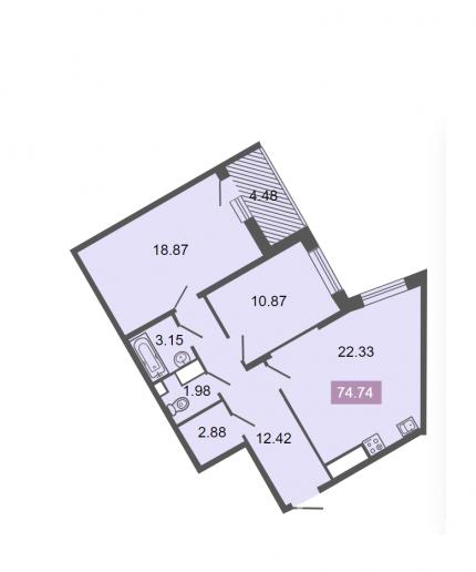 """ЖК """"Питер"""": квартиры бизнес-класса с видом на ЛЭП - Фото 17"""