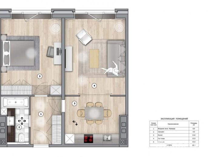 Docklands: стильные апартаменты с видом на Малую Неву - Фото 24