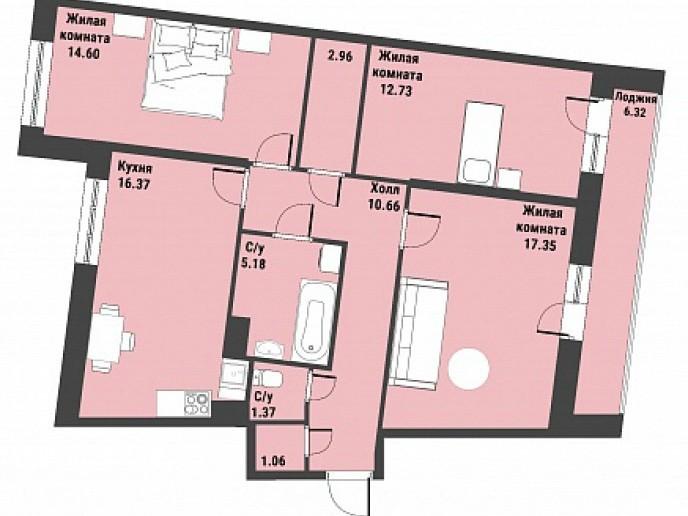 """ЖК """"Живи! В Рыбацком!"""" - недорогие квартиры с отделкой и удобной рассрочкой. - Фото 40"""