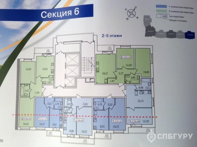 """ЖК """"Приневский"""" -  бюджетное жилье в пределах КАД - Фото 35"""