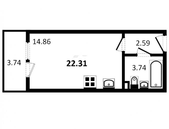 "UP-квартал ""Пушкинский"": пятиэтажки между дворцово-парковых ансамблей - Фото 61"