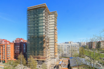 """Фасадные работы в ЖК """"Master Серебристый бульвар 19"""" ведутся на уровне 15 этажа"""