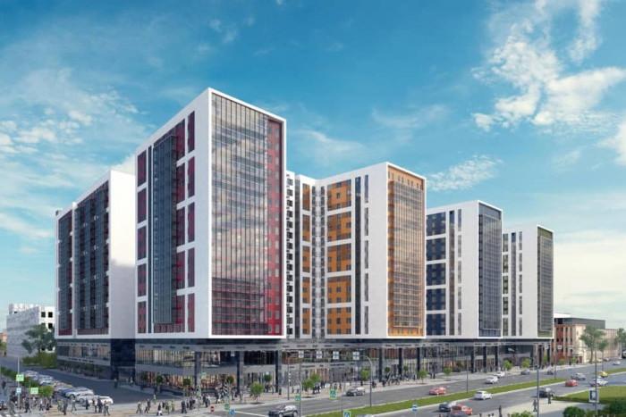 """На стройплощадке первой очереди апарт-отеля """"VALO"""" возводятся стены здания"""