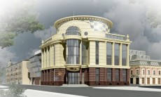 В Петроградском районе построят дом и банк на месте старой сталинки и автосервиса
