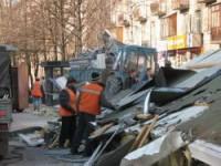 В Выборгском районе демонтировали коммерческие самострои